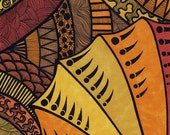 Tribal - Art Postcard by Lorrie Whittington
