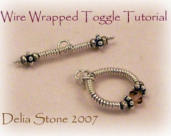 Wire Wrapped Toggle Clasp Tutorial PDF