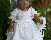 Dolls Clothes to fit 18 inch doll or American Girl WEDDING DRESS