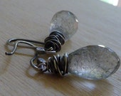 Tourmalated Faceted Quartz - Black and White