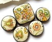 Cosmic Flower a hand made bead set
