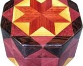 Bloodwood Star Octagon Box
