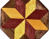 SW-Ph-Walnut Quilt Block Pattern Weight