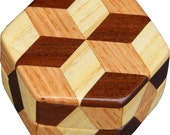 Tiny Hexagon Tumbling Block Box