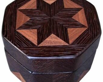 Wenge and Walnut Octagon Box
