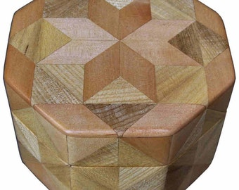 Birch and Hackberry Octagon Box