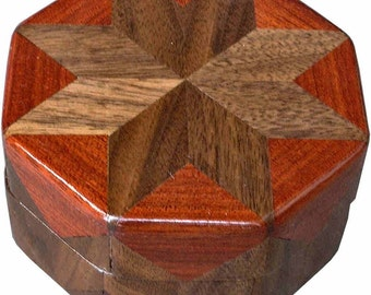 Walnut And Bloodwood Ring Box
