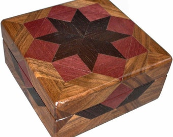 Purpleheart Square Box