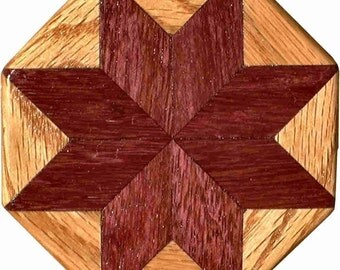 Purpleheart-Oak Pattern Weight