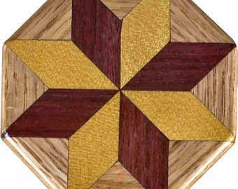 SW-Ph-Oak Quilt Block Pattern Weight