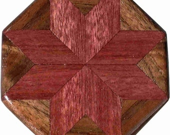 Purpleheart-Walnut Pattern Weight