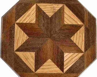 Walnut-Oak Trivet