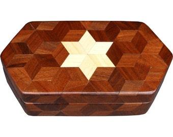 Small Walnut Hexagon Box
