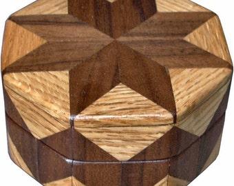Walnut and Oak Ring Box