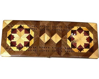 Bright Rolling Star Cribbage Board