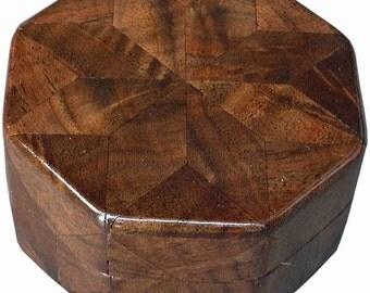Walnut Burl Ring Box