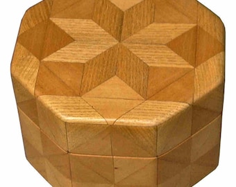 Hackberry and Birch Octagon Box