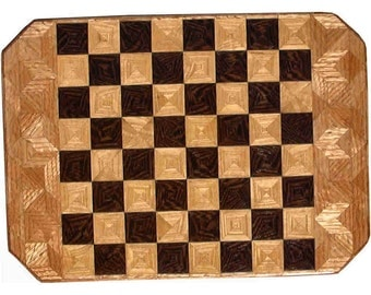 1218 Wenge-Ash-Oak Chess Board