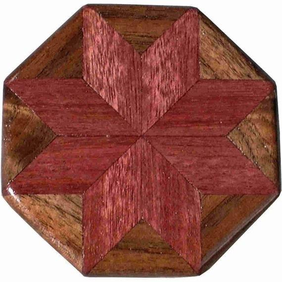 Purpleheart-Walnut Pattern Weight