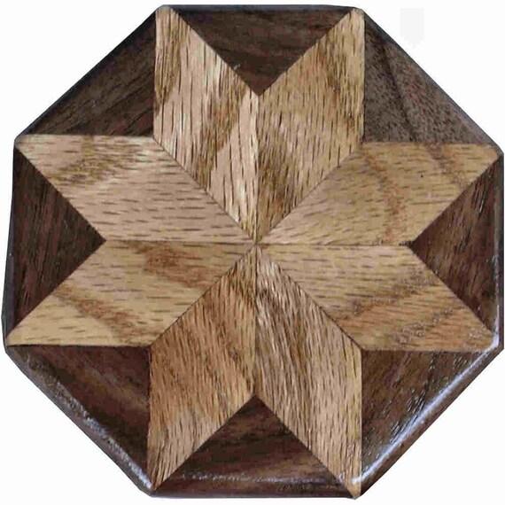 Oak-Walnut Pattern Weight