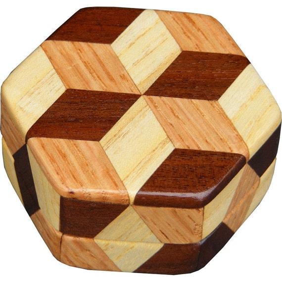 Tiny Hexagon Tumbling Block Box