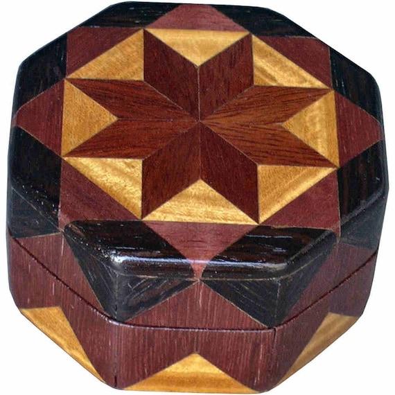 Bloodwood Star Ring Box