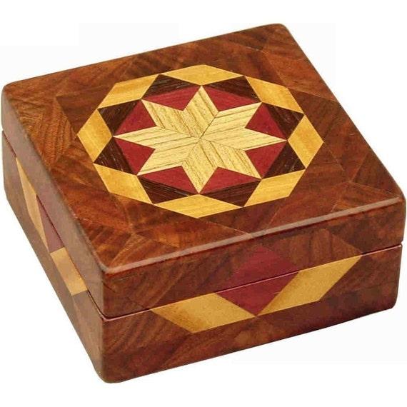 Square Walnut Burl Box
