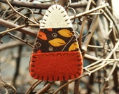 candy corn ornament felt and fabric autumn halloween decoration