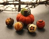 mini stuffed pumpkin felt and fabric acorn autumn harvest decorations