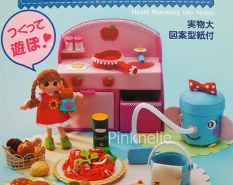 Handmade Felt Play House Foods and Goods vol 3  Japanese Craft Book