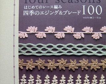 Lacework Four Seasons Edging 100  Japanese Craft Book