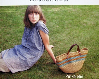 Hat and Bag Natural Crochet  of Eco Andaria Japanese Craft Book>