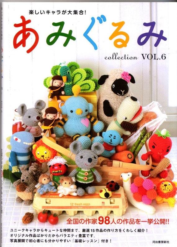 Hoooked Amigurumi Vol 1 : Amigurumi Crochet Collection Vol 6 Japanese Craft Book