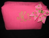 Monogrammed Personalized Bow Makeup Bag  PRIVATE LISTING FOR Valerie Smith