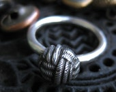 KNOT Victorian Button ring sz 6.5