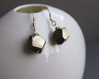 fools gold polyhedron earrings