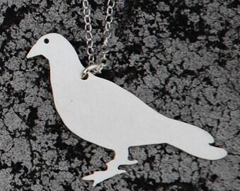 PIGEON urban pest sterling necklace