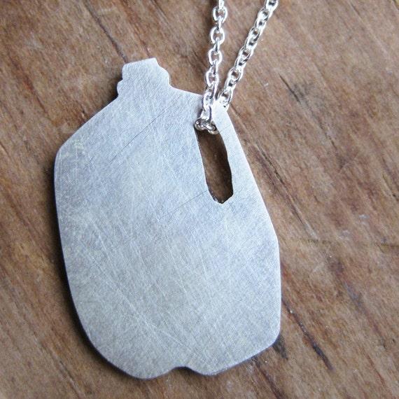 MILK JUG sterling silver necklace