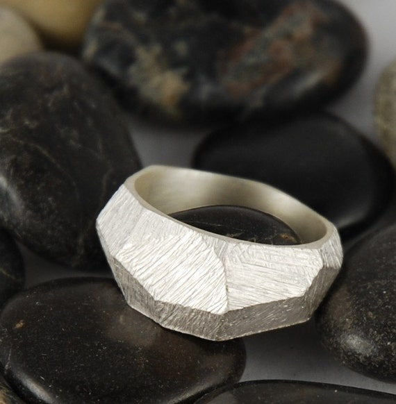 FACETS ring solid sterling silver MADE to ORDER size