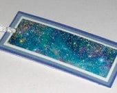 Blue stars paper bookmark - Free Shipping