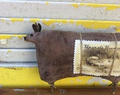 Primitive Olde Cupboard Reindeer