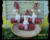 Primitive Santa Cupboard Tucks- Ready to Ship
