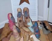 Primitive Christmas Nativity Set AWESOME