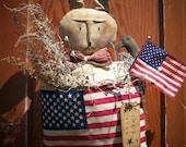 Primitive Americana Rabbit Door Greeter