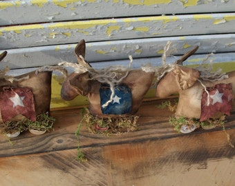 Welcome Spring Sale Primitive Donkey Parade