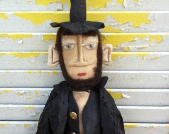 Primitive Doll Abe Lincoln Makedo