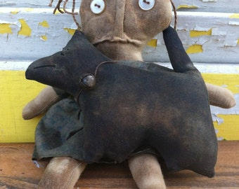 Primitive Doll Wee Dog Lover