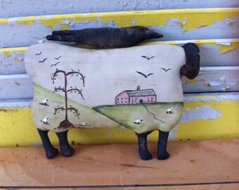 Primitive Fok Art Sheep-