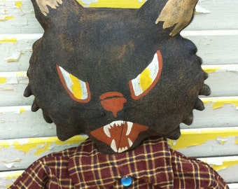 Primitive Halloween Sid the Mean Alley Cat