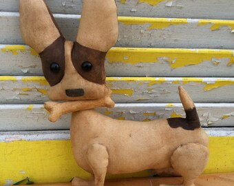 Primitive Doll, Dog, Brown, Chihuahua Chico